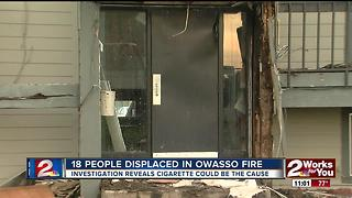 Residents displaced after apartment fire in Owasso - Video