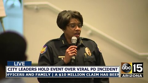 Phoenix PD Chief Jeri Williams responds to criticism during community meeting