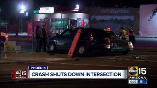 Crash shuts down intersection at 67th Avenue and McDowell - Video