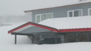 Ski Lodge Snowed in During Spring Cold Snap - Video