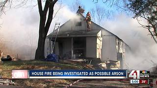 Fire under investigation as possible arson - Video