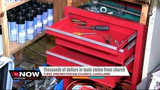 Thousands of dollars in tools stolen from Lakeland church group - Video