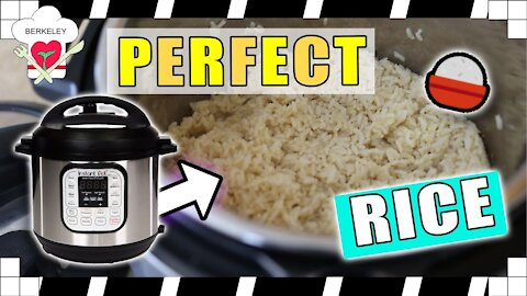 Easy & perfect way to cook rice in instant pot