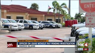 Marco Island Police Officer on paid leave