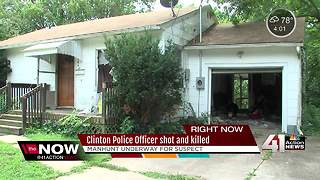 Manhunt underway; Clinton officer killed on duty - Video