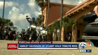 Treasure Coast bikers ride to Parkland to support Stoneman Douglas High School - Video