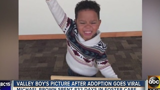 Picture of Phoenix boy getting adopted melts the heart - Video