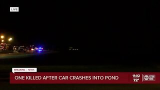 Driver killed, 12-year-old girl rescued from partially submerged car in Tampa pond, officials say