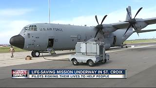 Exclusive: Air Force flying missions into St. Croix to rescue critically ill patients - Video