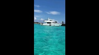 Beautiful clear water and a great view