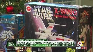'Last Jedi' raising value of old Star Wars merchandise - Video