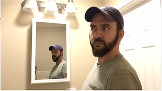 Man discovers true horror in the bathroom mirror