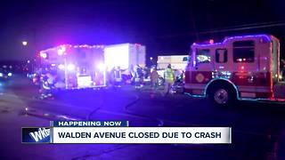 Crash closes section of Walden during morning commute - Video