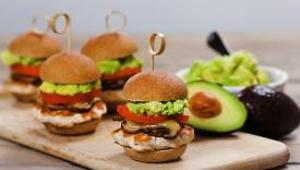 Turkey Sliders with Avocado, Mushrooms, and Swiss Cheese - Video