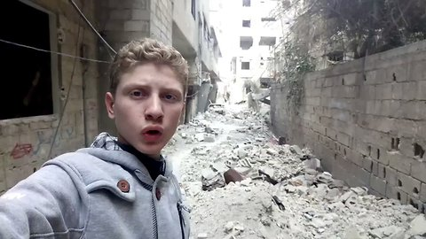Young Man From East Ghouta Says Good Bye as Siege Nears Its End