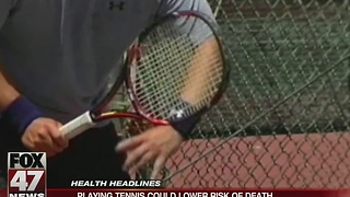 Playing tennis could lower risk of death - Video