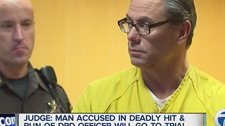 Man to stand trial in deadly ht and run of Detroit police officer - Video