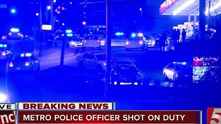 Metro Police Officer Shot On Duty - Video