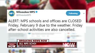 Milwaukee Public Schools closed Friday for Snow Day - Video