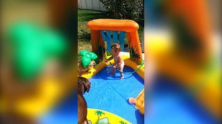 Baby's Adorable Pool Party - Video