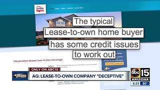 Lease-to-own real estate company accused of 'deceptive program' - Video