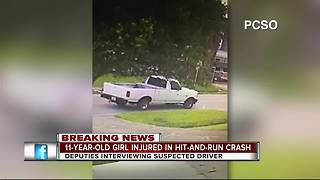 11-year-old girl injured in hit-and-run crash - Video