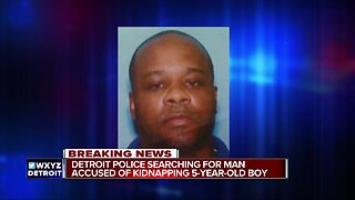 Detroit police search for suspect who kidnapped 5-year-old boy overnight