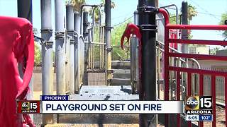 Playground for children with special needs set on fire in Phoenix