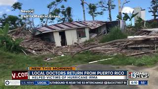 Local doctors home for Thanksgiving after helping in Puerto Rico - Video