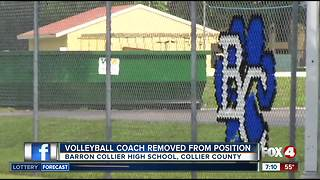 Barron Collier volleyball coach removed from position - Video