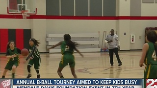 Annual basketball tournament aimed to keep kids busy - Video