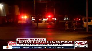 Two injured in overnight double shooting in North Tulsa
