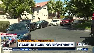 UNLV students parking in front of homes - Video