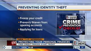 Freeze credit for free to protect yourself from identity theft