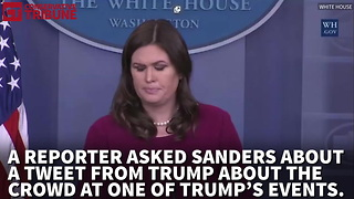 Sarah Huckabee Sanders Takes on Jim Acosta and Fake News - Video