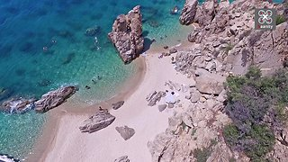 Drone Footage Captures An Untouched Beach In Greece