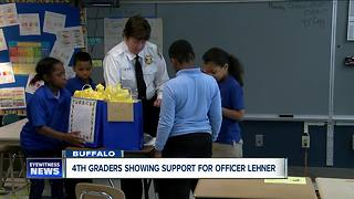 Kids make cards showing support for BPD and Lehner family - Video