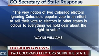 2 Colorado electors file suit in hopes of not voting for Clinton as anti-Trump movement continues - Video
