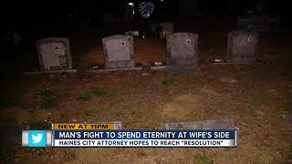 Man's fight to spend eternity at wife's side - Video