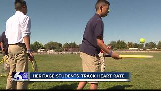 Caldwell students track heart rate in P.E. - Video