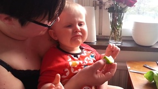 Baby Reacts Adorably After Tasting His First Lime