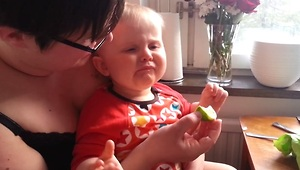 Baby Reacts Adorably After Tasting His First Lime - Video