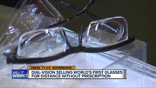 Dial-vision selling world's first glasses for distance without prescription - Video