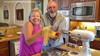 Foodie Friends Have Fun Making Fresh Fettucine With KitchenAid Mixer