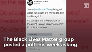 Black Lives Matter Deletes Pro-Trump Poll - Video