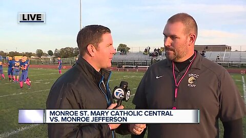 MSMCC visits Monroe Jefferson in WXYZ Game of the Week