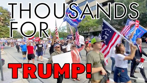 "Thousands March For Trump Shouting ""STOP THE STEAL"" Rally 