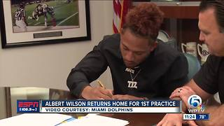 Albert Wilson First Day of Dolphins Practice - Video