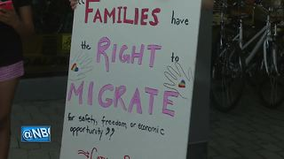 Hundreds protest immigration policies - Video