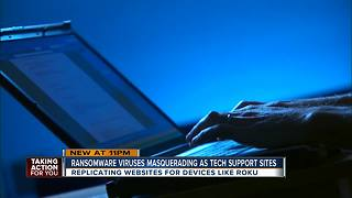 Ransomware viruses masquerading as tech support sites - Video
